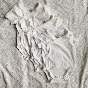 H & M organic wrap-over onesie (3 pack)